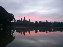 Ανατολή σε Angkor Wat Στοκ Φωτογραφία