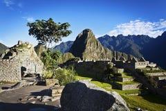 Ανατολή σε Machu Picchu - το Περού Στοκ εικόνα με δικαίωμα ελεύθερης χρήσης