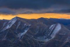 Ανατολή στα βουνά Fagaras Στοκ Εικόνες