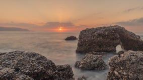 Ανατολή στην παραλία, Ισπανία στοκ εικόνες με δικαίωμα ελεύθερης χρήσης