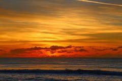 Ανατολή στην παραλία παραδείσου Surfers, Αυστραλία στοκ φωτογραφίες