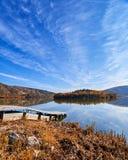 Ανατολή στη λίμνη Eymir, Άγκυρα Τουρκία Στοκ Εικόνες
