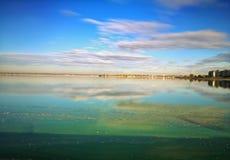 Ανατολή στη λίμνη Morii, Βουκουρέστι Στοκ Φωτογραφία