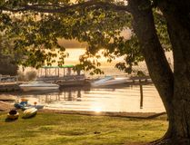 Ανατολή στη λίμνη Rotoiti, NZ Στοκ Εικόνες