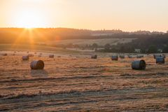 Ανατολή στο αγρόκτημα στο Όρεγκον Στοκ Εικόνες