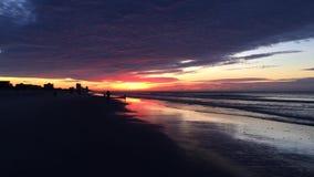 Ανατολή στο βίντεο Myrtle Beach απόθεμα βίντεο