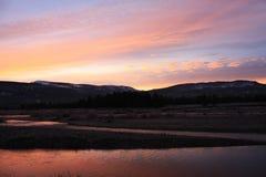 Ανατολή στο εθνικό πάρκο Yellowstone Στοκ εικόνα με δικαίωμα ελεύθερης χρήσης