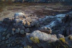 Ανατολή στο σημείο Chindi στο χρωματισμένο εθνικό πάρκο ερήμων κοντά Hol στοκ φωτογραφίες