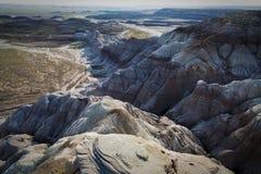 Ανατολή στο σημείο Chindi στο χρωματισμένο εθνικό πάρκο ερήμων κοντά Hol στοκ εικόνες με δικαίωμα ελεύθερης χρήσης