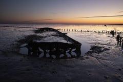 Ανατολή στο Waddenzee στις Κάτω Χώρες στοκ εικόνες με δικαίωμα ελεύθερης χρήσης