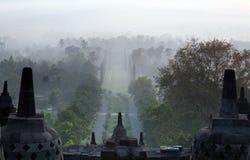 Ανατολή της Ινδονησίας ναών Borobudur στοκ φωτογραφίες με δικαίωμα ελεύθερης χρήσης