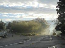Ανατολή της Misty στην Αθήνα Στοκ εικόνες με δικαίωμα ελεύθερης χρήσης