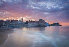 Ανατολή του Μαυροβουνίου Budva Στοκ Εικόνες