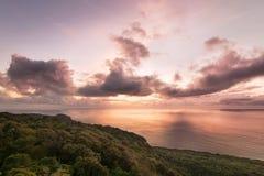 Ανατολή του Νησιού των Χριστουγέννων λόφων της Margaret Στοκ Εικόνες