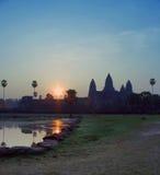 ανατολή angkor wat Στοκ Φωτογραφίες