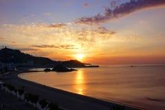 Ανατολή Blanes. Κόστα Μπράβα, Ισπανία στοκ φωτογραφίες με δικαίωμα ελεύθερης χρήσης
