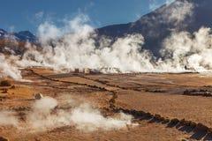 Ανατολή geysers Tatio, βόρεια Χιλή, περιοχή Atacama, CL στοκ εικόνες με δικαίωμα ελεύθερης χρήσης