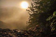 Ανατολή Smokey στο πάρκο της Θάτσερ στοκ εικόνα