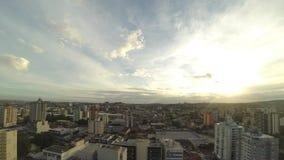 Ανατολή timelapse στην πόλη απόθεμα βίντεο