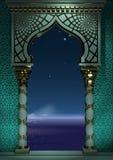 Ανατολική αρχαία αραβική αψίδων νύχτα αψίδων νύχτας ανατολική αρχαία αραβική ελεύθερη απεικόνιση δικαιώματος