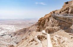 Ανατολική είσοδος στο φρούριο Masada στο Ισραήλ στοκ φωτογραφία με δικαίωμα ελεύθερης χρήσης