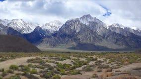 Ανατολική οροσειρά σειρά της Νεβάδας απόθεμα βίντεο