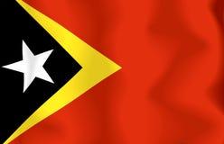 ανατολική σημαία Τιμόρ Στοκ εικόνα με δικαίωμα ελεύθερης χρήσης