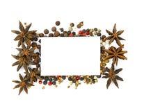 Ανατολική φωτογραφία καρυκευμάτων και καρυκευμάτων για το μικροϋπολογιστής-απόθεμα στοκ εικόνα με δικαίωμα ελεύθερης χρήσης