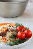ανατολικό γεύμα pilaf Στοκ φωτογραφίες με δικαίωμα ελεύθερης χρήσης