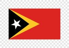 Ανατολικό Τιμόρ - εθνική σημαία διανυσματική απεικόνιση