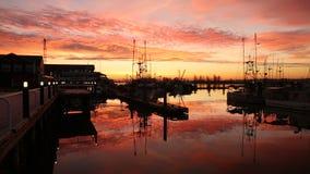 Ανατολή αποβαθρών Fishermans, Steveston απόθεμα βίντεο