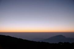 Ανατολή από το βουνό στοκ φωτογραφίες