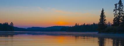 Ανατολή από Qubec Στοκ εικόνα με δικαίωμα ελεύθερης χρήσης