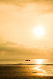 Ανατολή αλιευτικών σκαφών Στοκ Εικόνα