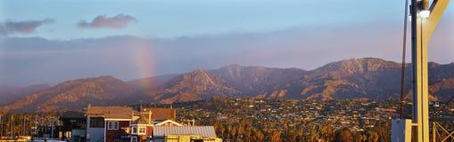 Ανατολή, βουνά Santa Barbara Στοκ Φωτογραφίες
