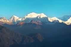 Ανατολή επάνω από Kangchenjunga Στοκ Εικόνα