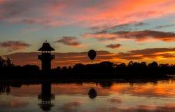 Ανατολή λιμνών μπαλονιών Στοκ φωτογραφίες με δικαίωμα ελεύθερης χρήσης