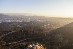 Ανατολή Καλιφόρνιας Glendale Στοκ Φωτογραφίες