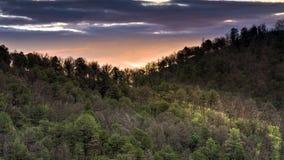 Ανατολή κορυφογραμμών στοκ φωτογραφία με δικαίωμα ελεύθερης χρήσης