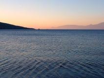Ανατολή, Κόλπος Corinth Στοκ εικόνα με δικαίωμα ελεύθερης χρήσης