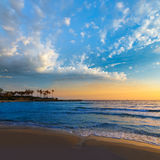 Ανατολή μεσογειακή Ισπανία παραλιών EL Arenal Javea Στοκ εικόνες με δικαίωμα ελεύθερης χρήσης