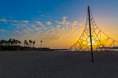 Ανατολή μεσογειακή Ισπανία παραλιών EL Arenal Javea Στοκ εικόνα με δικαίωμα ελεύθερης χρήσης