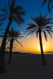 Ανατολή μεσογειακή Ισπανία παραλιών EL Arenal Javea Στοκ φωτογραφία με δικαίωμα ελεύθερης χρήσης