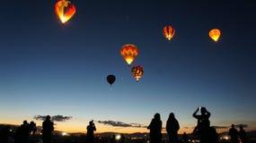 Ανατολή μπαλονιών Στοκ Φωτογραφίες