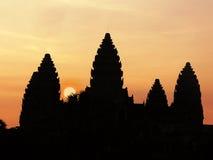 Ανατολή ναών Wat Angkor Στοκ φωτογραφίες με δικαίωμα ελεύθερης χρήσης