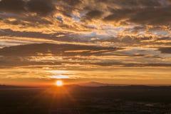 Ανατολή πάρκων του Λος Άντζελες Griffith Στοκ εικόνα με δικαίωμα ελεύθερης χρήσης