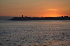 Ανατολή πέρα από την Αβάνα Στοκ φωτογραφία με δικαίωμα ελεύθερης χρήσης