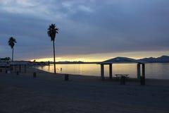 Ανατολή πέρα από τη λίμνη Havasu Αριζόνα Στοκ Εικόνες