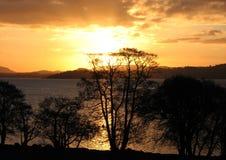 Ανατολή πέρα από τη λίμνη Lomond Στοκ εικόνες με δικαίωμα ελεύθερης χρήσης