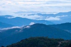Ανατολή πέρα από τη ζούγκλα στις ορεινές περιοχές του Cameron, Μαλαισία Στοκ Εικόνες
